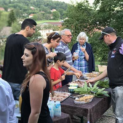 Apéritif estival au jardin Emil'Saveurs village les 4 Vents ramonchamp