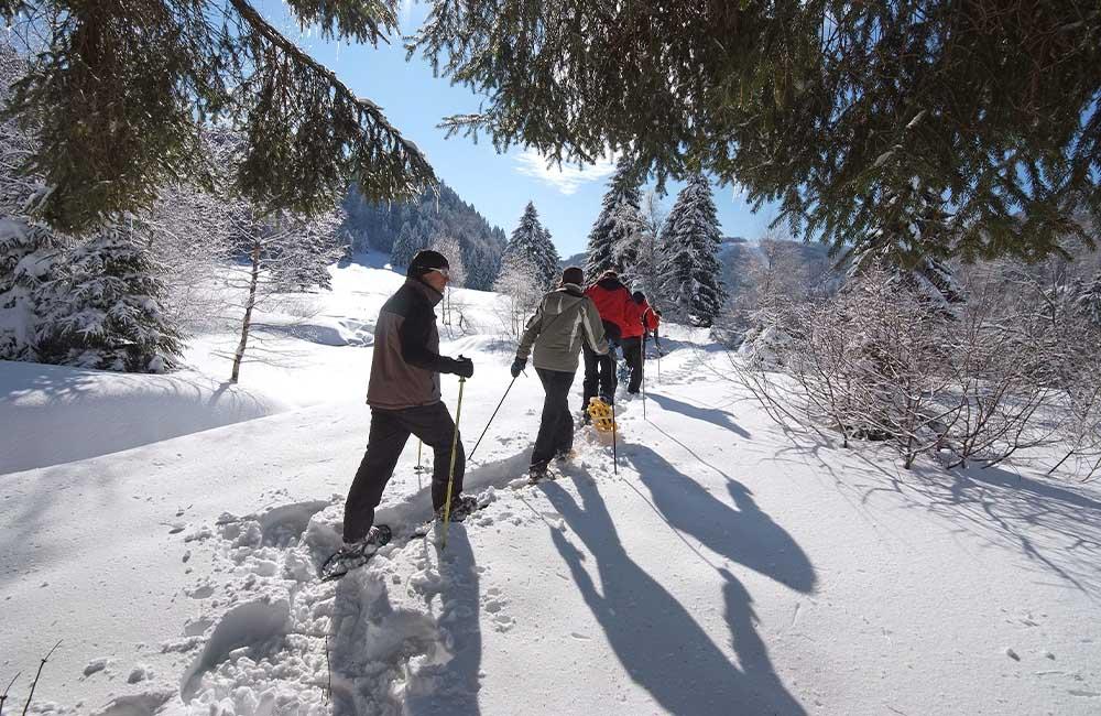 Balade raquettes Vosges séjour thématique des 4 Vents Ramonchamp