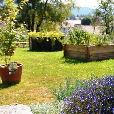 Jardin Emil'saveur pour les activités nature et la restauration au village vacances les 4 Vents