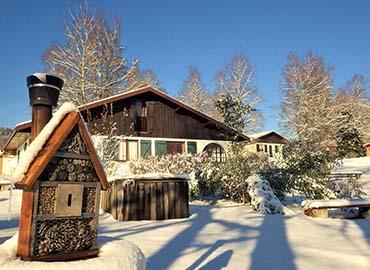 Chalet village vacances 4 vents sous la neige des vosges