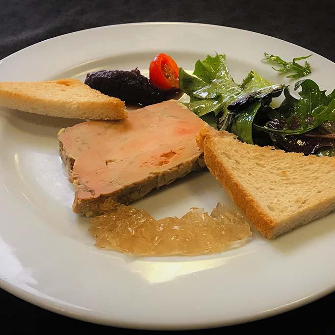 Foie gras entrée restauration 4 vents