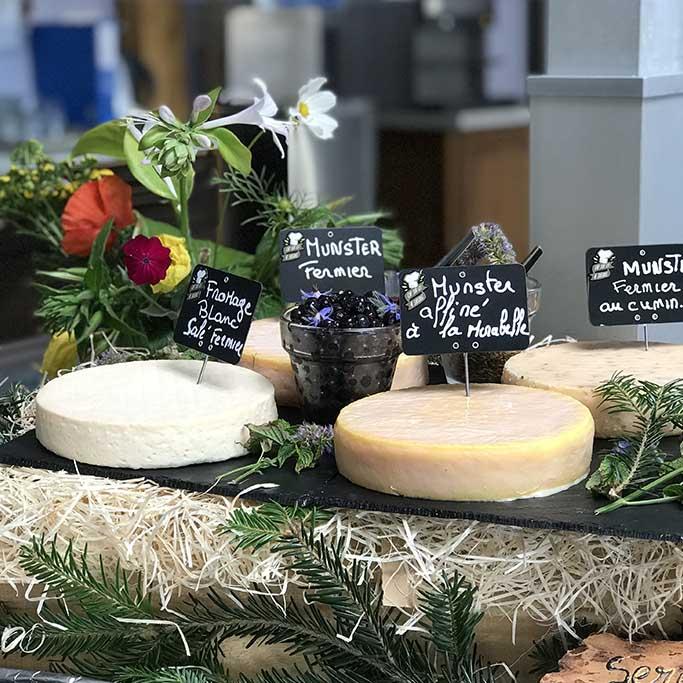 Fromages locaux des Vosges servis au village vacances les 4 Vents
