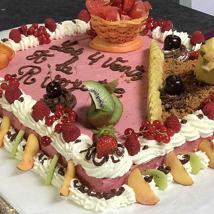 Gâteau d'anniversaire village vacances hautes vosges