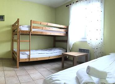 chambre familiale du gîte du village les 4 Vents