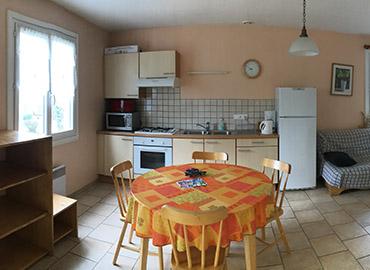 location gîte disposition intérieure village 4 Vents