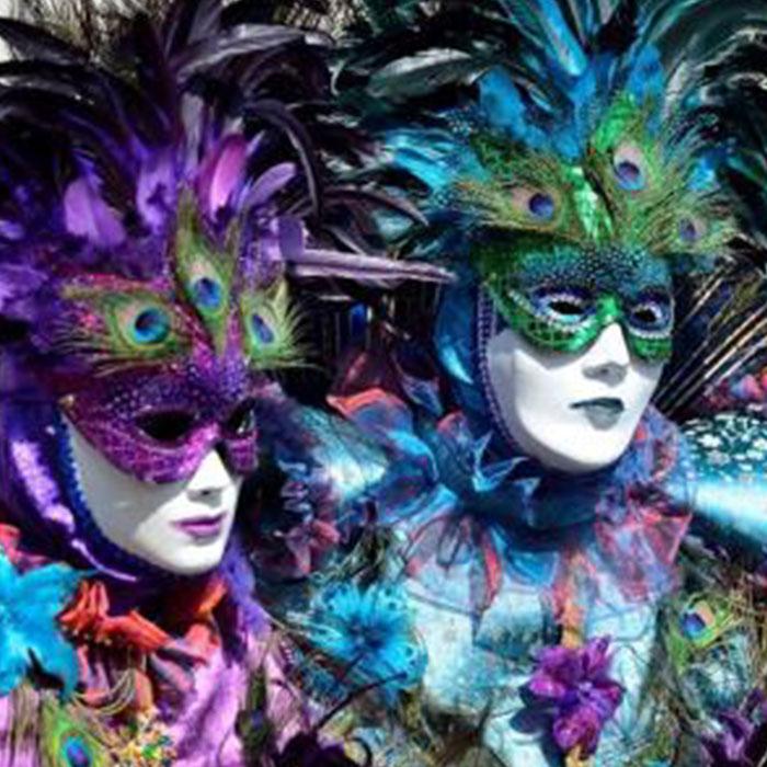 Masques vénitiens du carnaval de Remiremont Vosges - 4 Vents