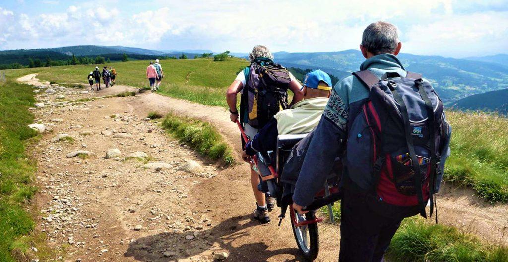 Séjour handi en groupe de randonneurs aux 4 Vents Vosges