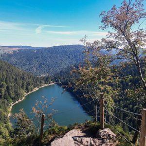 Visite avec les 4 Vents du lac des corbeaux Vosges randonnée